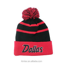 Kimtex New Arrival Wholesale Fashion Custom Acrylic Knitted or Jacquard Winter Promotional Hat with your own logo