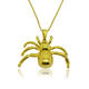 Cheap Fashion Spider Pendant Costume Jewelry Mens Saudi Custom Gold Plated Necklace