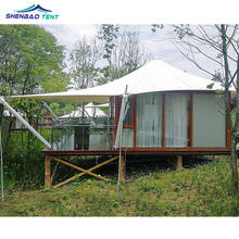 Luxurious Glamping Resort Hotel Tent With Glamping Structures Lodges