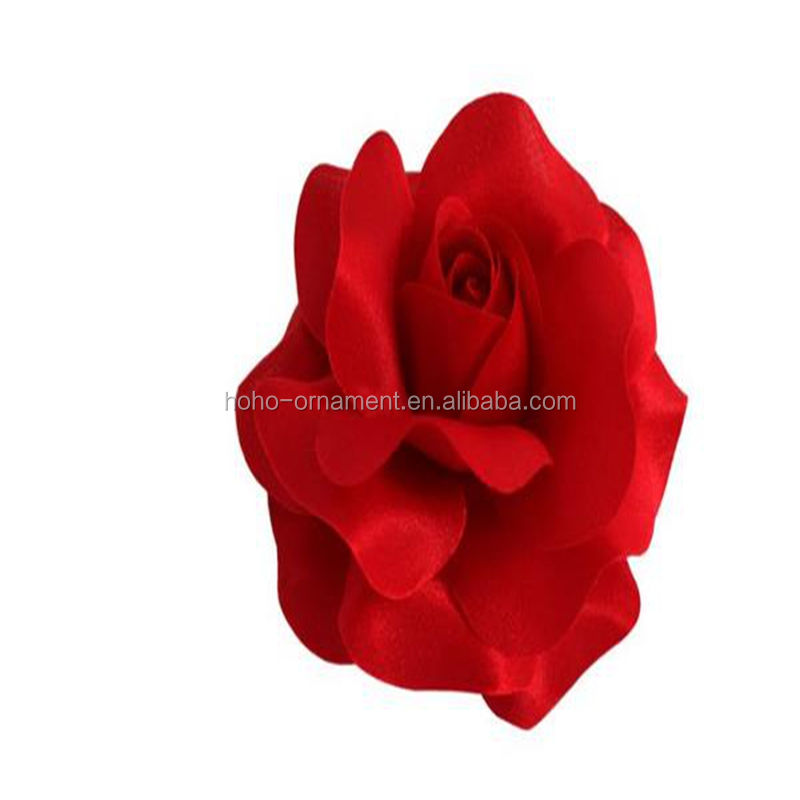 Fashion Women red rose Flowers Brooches Corsage Wedding Boutonniere