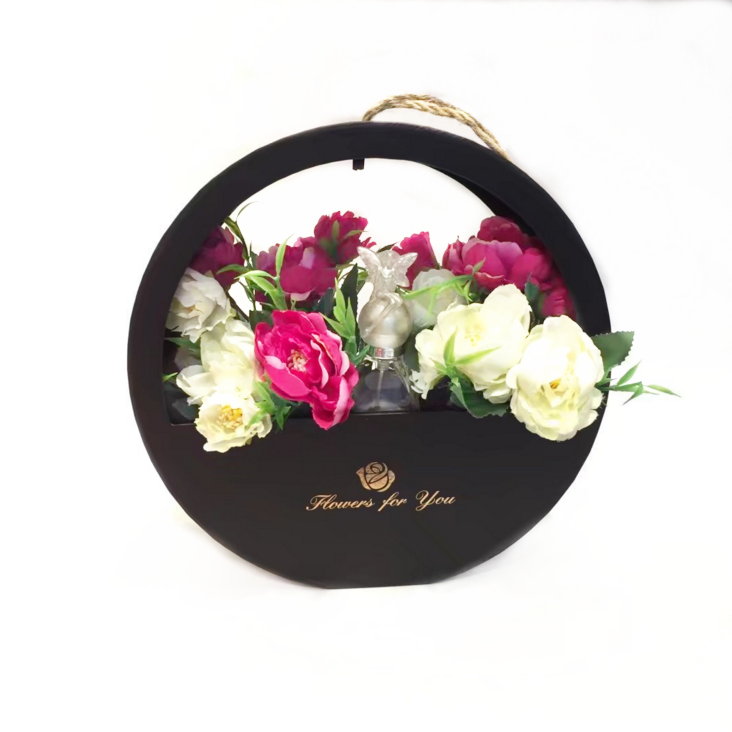 Spot flower box portable round window gift box wall hanging creative flower box