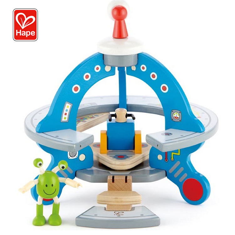 Hot sell educational imaginations training UFO wood toys