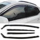 smoke colour IN CHANNEL STYLE car window visors wind deflectors weather guard FOR PEUGEOT 308 2008Y