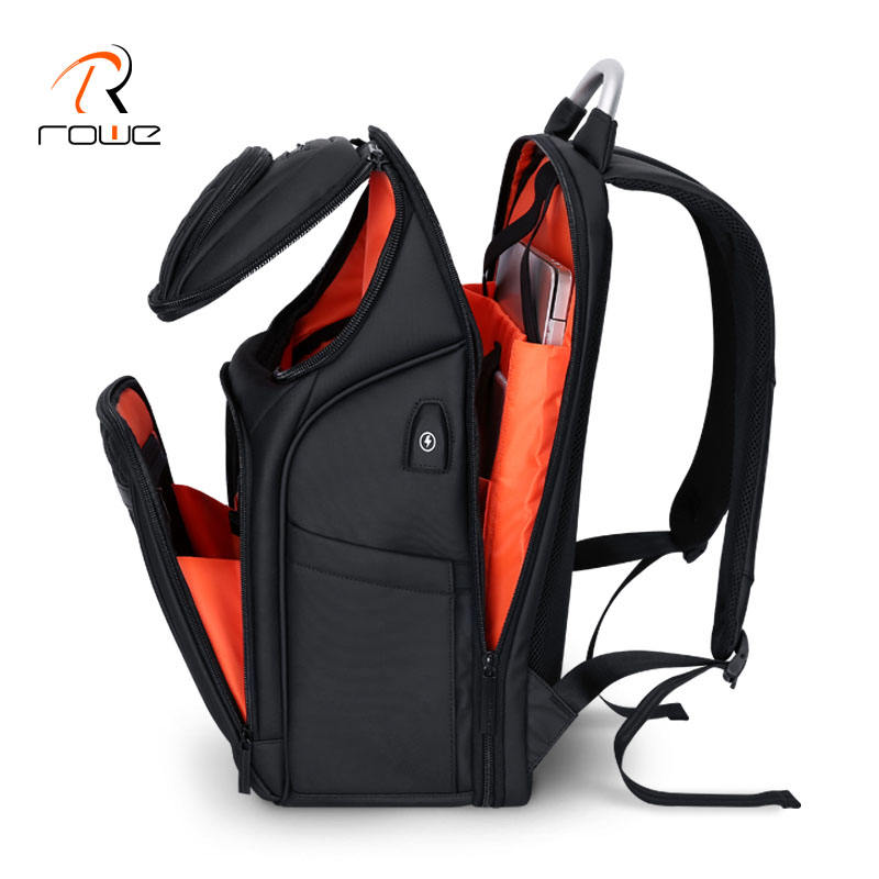 ROWE 2019 New Large Space Smart Mobile Charging Waterproof Anti Theft Business Travel Custom Backpack Laptop Bags