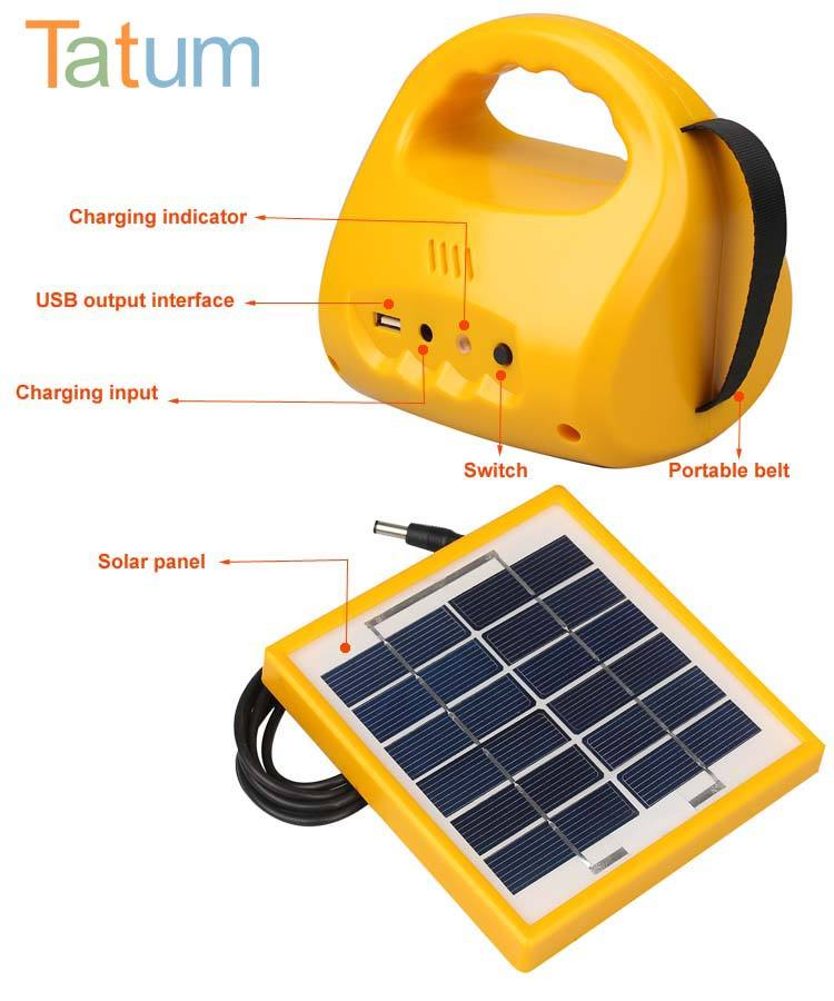 Garden [ Emergency Lamp Rechargeable ] Solar Rechargeable Led Light Waterproof Portable Outdoor And Home Hanging Emergency Lamp Solar Power Led Rechargeable Camping Light With USB Output