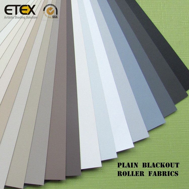 Quality Window Blinds Fabric Polyester Acrylic coating Plain Blackout Roller Blind Fabric