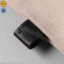 Sinicline custom sew on soft genuine leather label for clothing