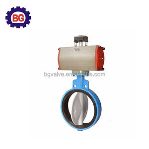 PTFE Sealing Pneumatic Diaphragm Butterfly Valve