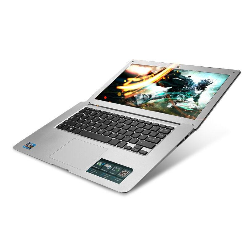 Cheap 14.1'' Slim Laptop Desktops Intel Pentium N3520 Quad Core 4GB RAM 160GB HDD 1920x1080P HD Ultrabook Computers