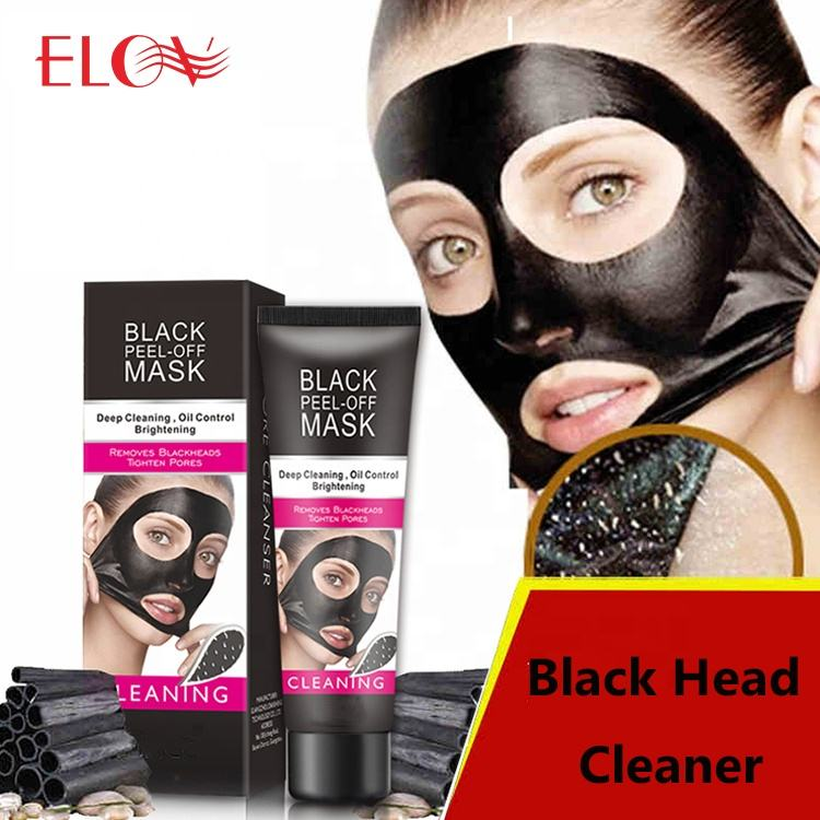 OEM/ODM Hot Sale Popular Bamboo Charcoal Black Peel Off Mud Face Mask Blackhead Remover Deep Cleaning Oil Control Facial Mask