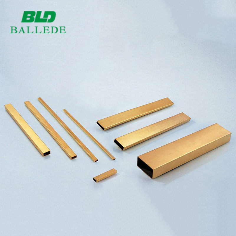 extruded Channels brass profiles