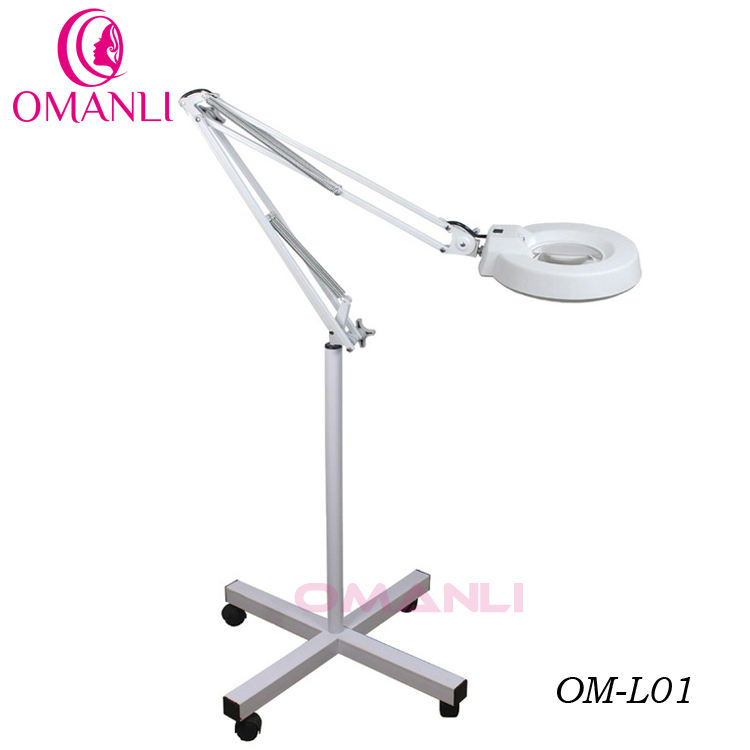 OM-L01 5X Magnifying Lamp Rolling Floor Stand Ballast Starter Facial Skin Salon