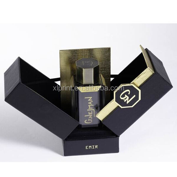 Luxury paper parfum bottle packaging boxes , display case