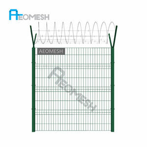 Guangzhou Factory Hot Selling Galvanized High Security Airport Fence