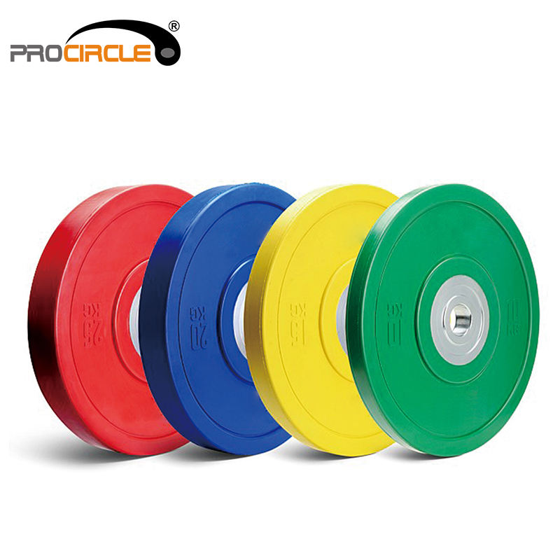 Weight Lifting Training Colorful 100% Natural Rubber Weight Plate