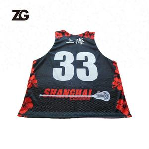 2020 Design de moda Quick Dry Camisa Uniforme Lacrosse Pinnies Lacrosse Projeto DO OEM