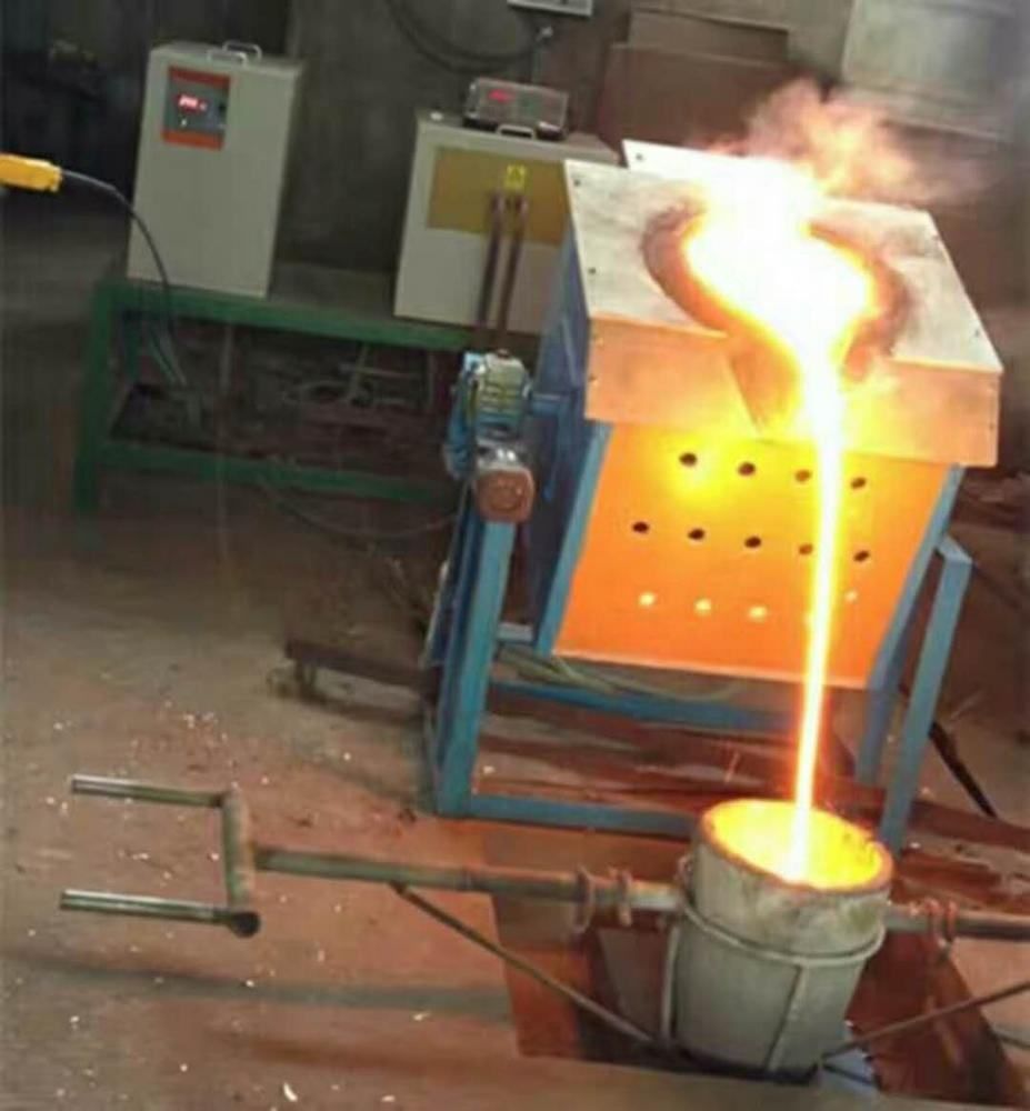 2000 degrees electric automatic gold melting induction furnace
