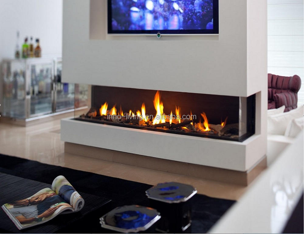Inno living 62 inch indoor/outdoor used steel ethanol gel fireplace