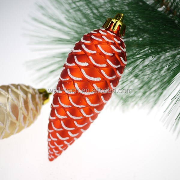 Hot item! 120mm Plastic Pine Cone Christmas Ornament