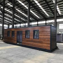 40 foot Simple prefab log cabins wooden small house romania portable cabins prefabricated log container homes price