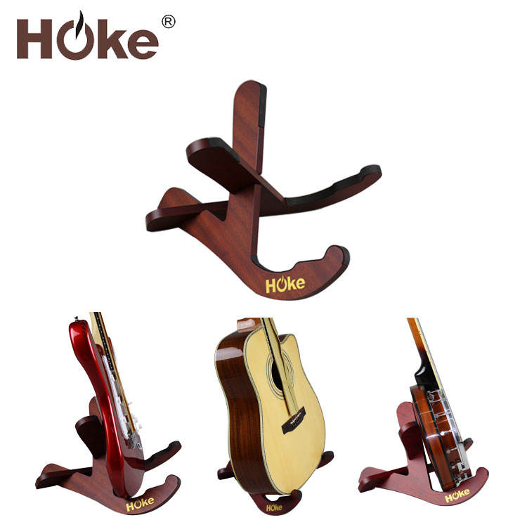 Custom Multi Portable Folding Wood Musical Instrument Electric Acoustic Guitar Stand For Guitar