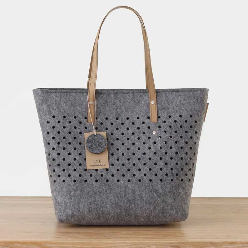 2019 Alibaba China Online Shopping Woman Tote Custom Felt Shoulder Bag
