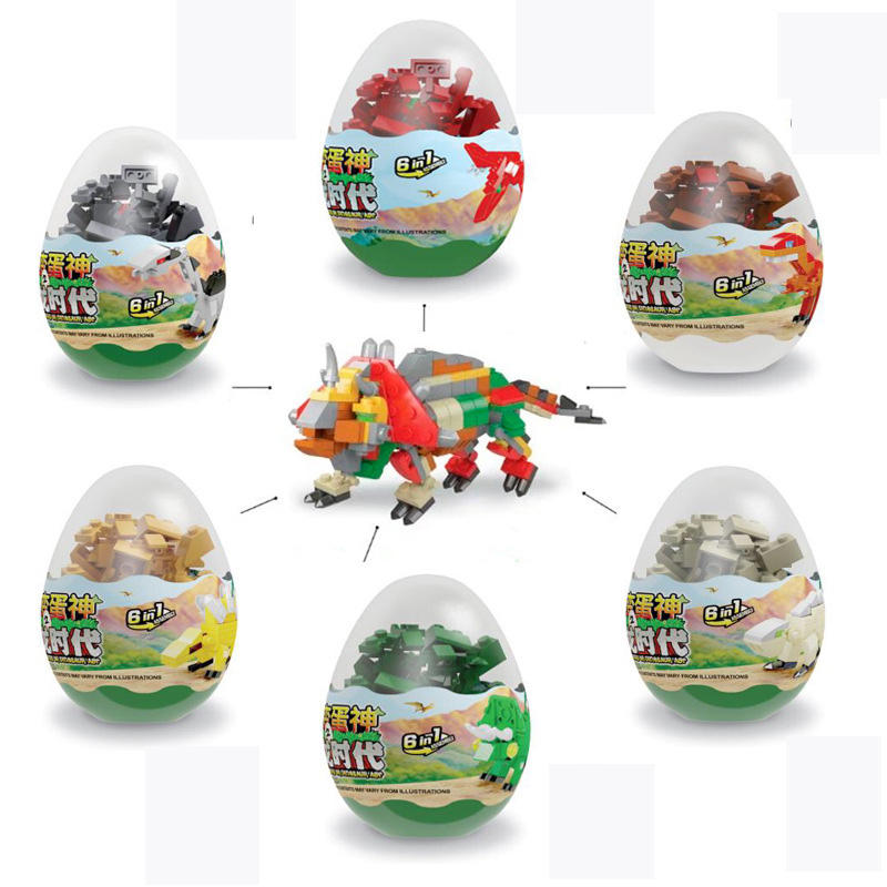 Wholesale plastic mini building block surprise egg capsule toy for kids capsule vending machine