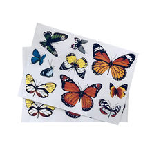 Butterfly Window Die Cutting Stickers, Adhesive Window Decal Removable Classroom Decoration Kiss Cut Stickers