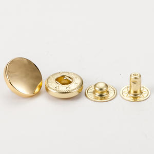 Eco-friendly custom logo spring gold brass metal snap buttons for coat