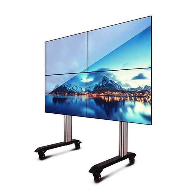 Kecerahan Tinggi 49 Inch Video Wall TV 4 K 2X4 LCD Layar Video Wall