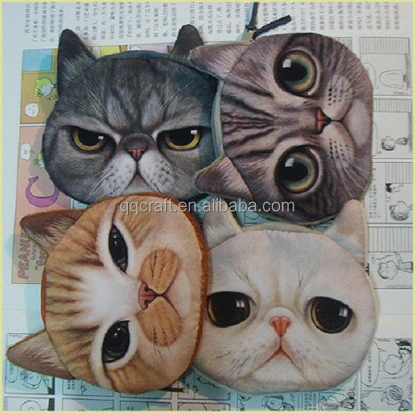 Aimigou gros animaux en forme en cuir <span class=keywords><strong>petit</strong></span> porte - monnaie et visage <span class=keywords><strong>de</strong></span> chat porte - monnaie