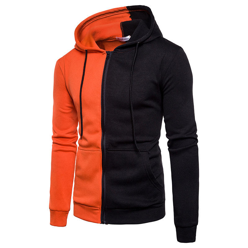 Oem Factory Custom Black Sweatshirts Zip Up Hoodie For Men