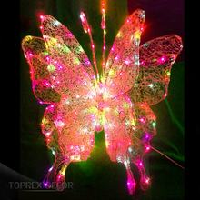 Toprex Decor shopping center spring decoration light up artificial flying butterfly
