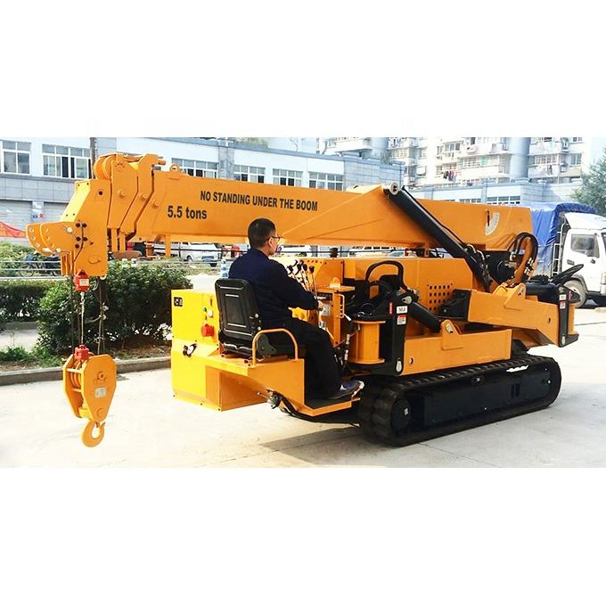 5T New spider mini crane electric for narrow working space