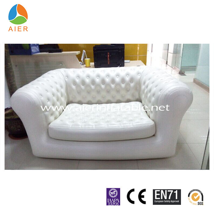 Promotional outdoor cheap chesterfield inflatable furniture, outdoor inflatable air furniture sofa for sale