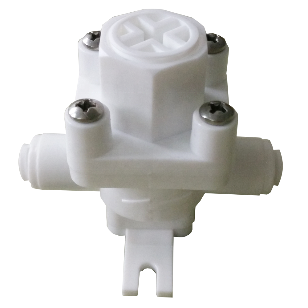 "RO Water Pressure Relief Valve Water Pressure Reducing Regulator 1/4"" 3/8"" OD Hose Quick Connection RO Reverse Osmosis System"