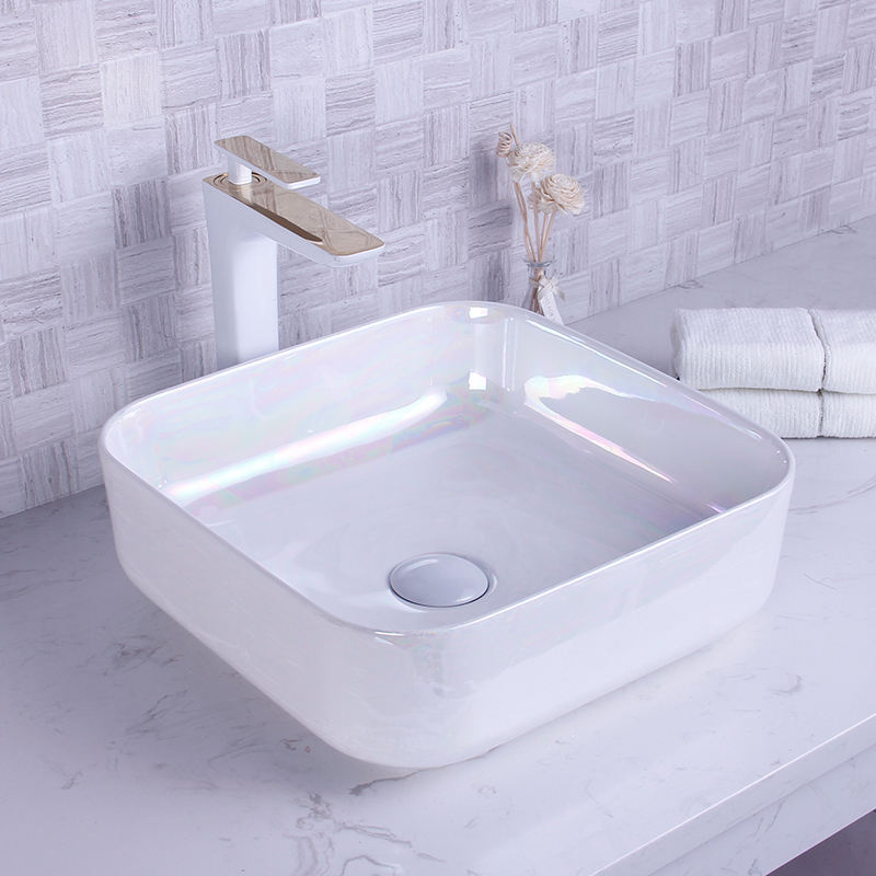 Dazzle Color Art Basin Bath Room Top Mount Ceramic Fancy Sink