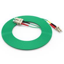 Low MOQ Telecommunication FTTH Fiber Cable LC to SC OM3 CATV Optical Fiber Jumper pigtail Armored Multimode Fiber Cable