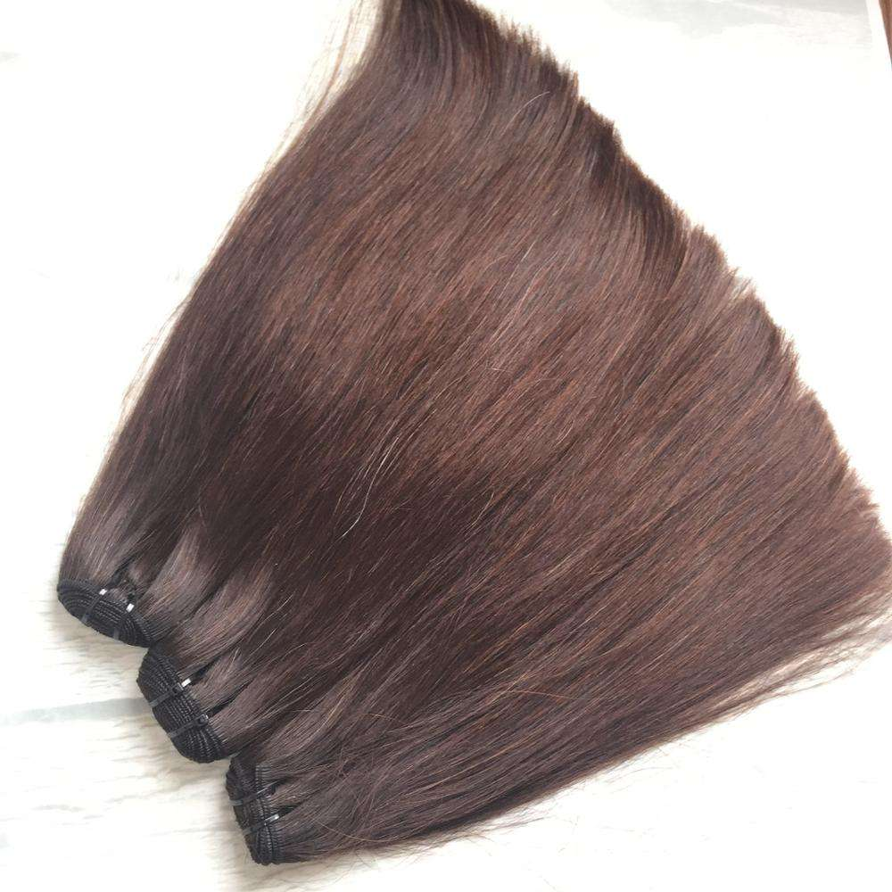 Bundles Straight Human Hair Bundles Straight vietnamhair weft hair extensions thickness natural brown straight super