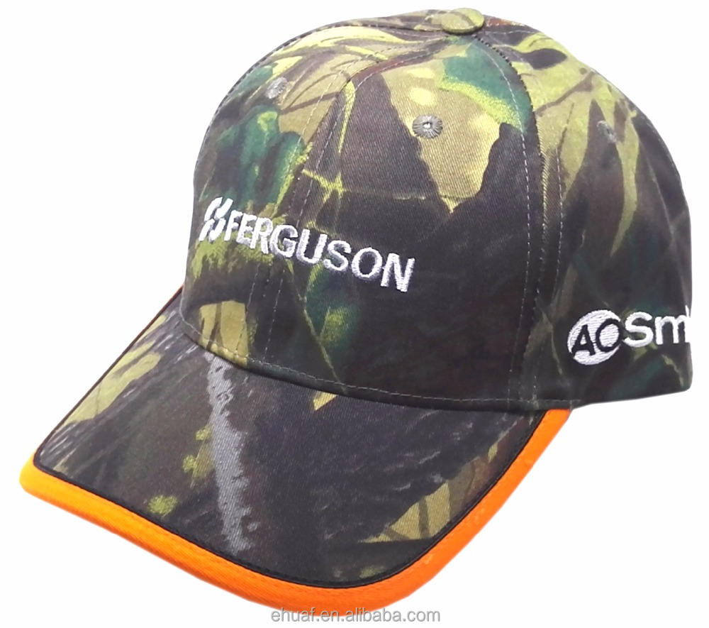 Forest real tree leaf camo design cotton hunting outdoor hat