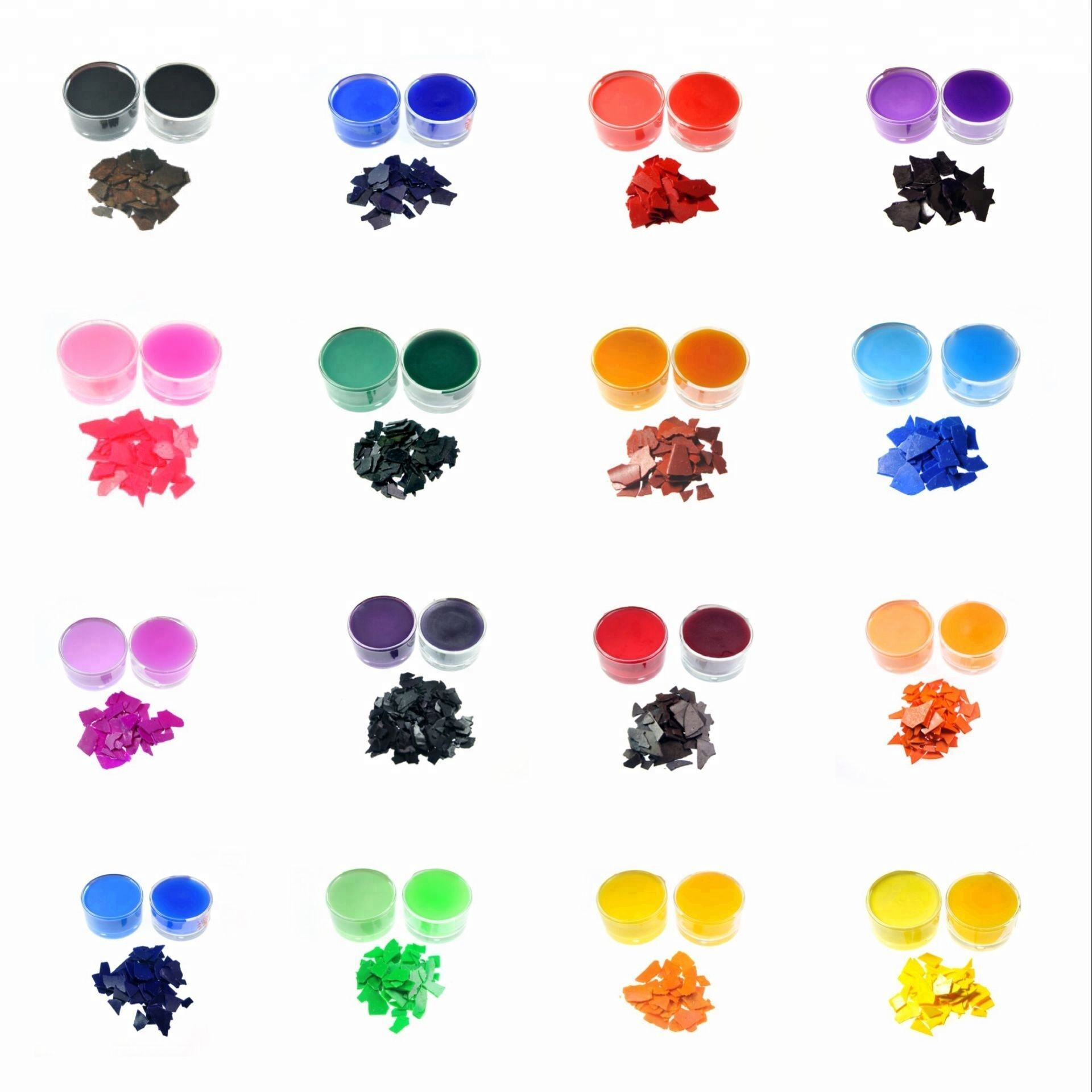Amazon Hot Selling 16 Colors Pigment Candle Wax Dye Chips For Candle Making