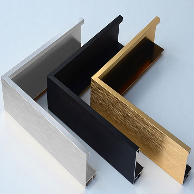 Red blue black white gold powder coated aluminum colorful picture photo frames with brushed