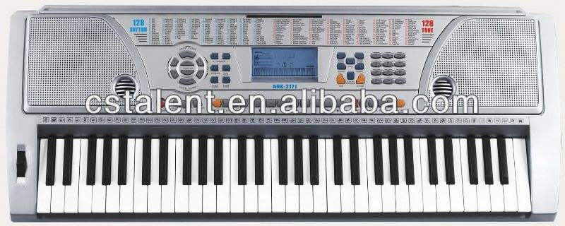 61 Tombol Organ Elektronik/Keyboard Elektronik Instrumen (MK-980)