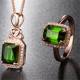 fine jewelry manufacturer china wholesale 18k gold natural green tourmaline stone jewelry set