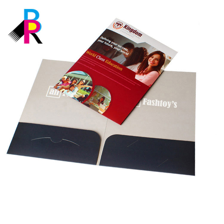 Custom 2 pocket folder with card holder printing