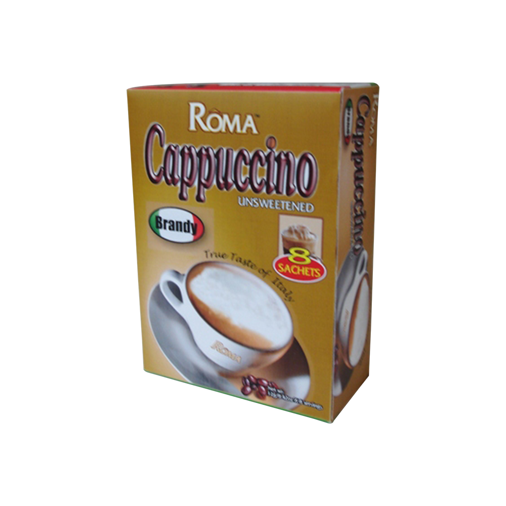 High Quality Roma Brandy Unsweentened Cappuccino Private Label Organic Instant Coffee