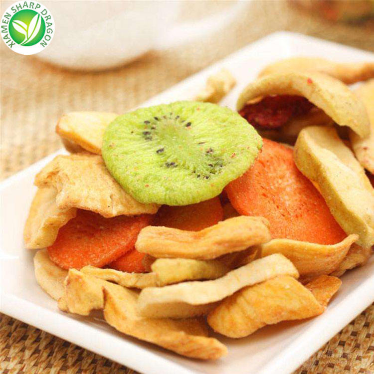 Production line prices healthy snacks delicious fried mixed dried fruit chips and vegetables food