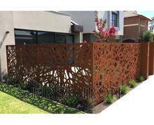 Rust color corten steel finishing laser cut iron fence, laser cutting residential iron fences and gates