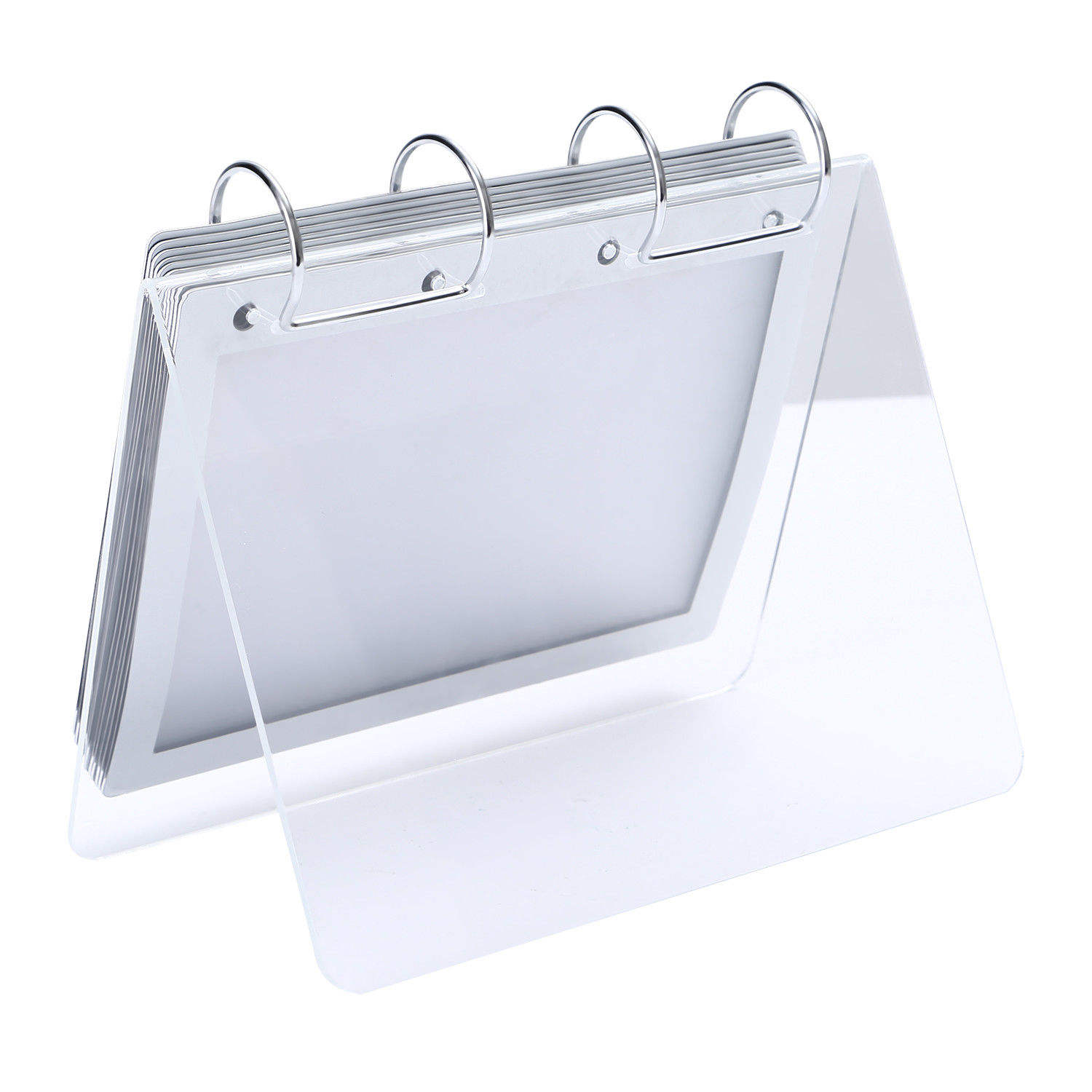 Desk Top 5x7 Inches Acrylic Calendar Holder with PVC Sleeve