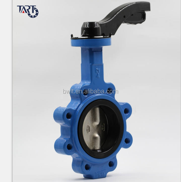 dn100 4 inch Ductile Iron Lever Lug Type Butterfly valve